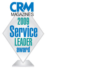"CRM magazine 2009 names eGain a ""Leader"" in web customer service"