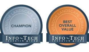 eGain suite gets the Info-Tech Champion award and the Value Award