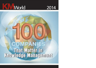 "eGain in KMWorld's ""100 Companies that Matter in Knowledge Management"" list for 8th year"