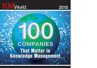 "eGain in KMWorld's 2015 ""100 Companies that Matter in Knowledge Management"" list"