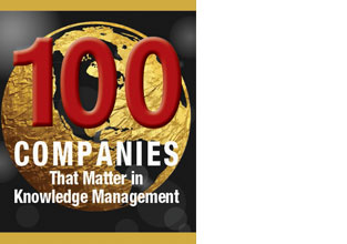 "eGain in KMWorld's 2017 ""100 Companies that Matter in Knowledge Management"" list"