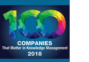 "eGain in KMWorld's 2018 ""100 Companies that Matter in Knowledge Management"" list"