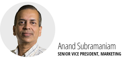 Anand Subramaniam, SVP Marketing
