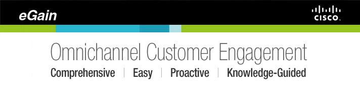 eGain and Cisco for omnichannel customer engagement