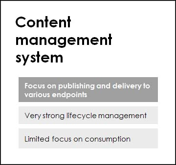 Content management system, a knowledge tool