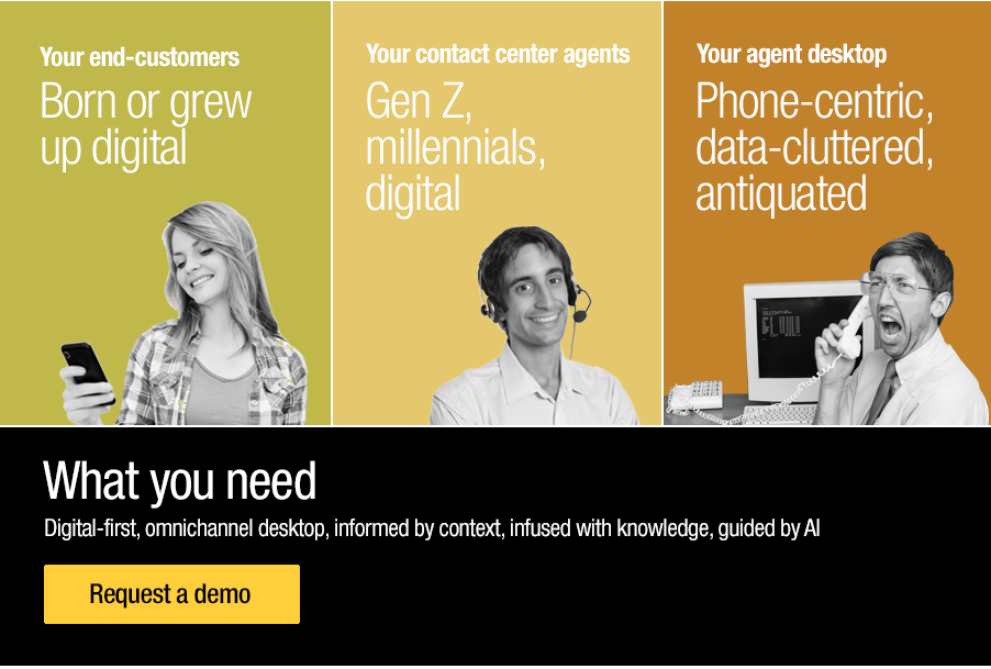 Millennial agents that deal with millennial customers need digital-first desktops