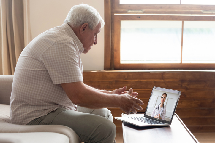 Old man seeking digital medical help