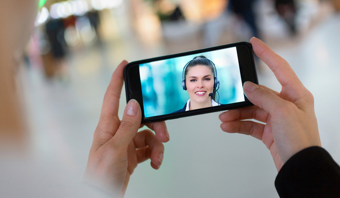 Video chat for customer service