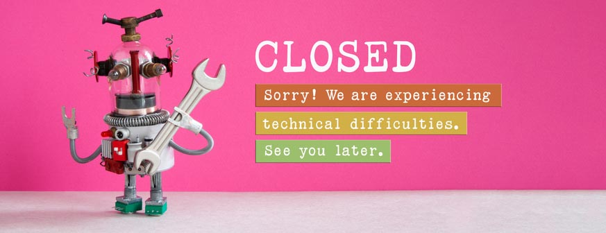 Website error due to heavy traffic triggered by COVID-19